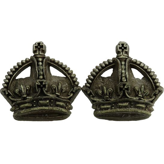 PLASTIC British Army Officers Insignia Bakelite Crown Pips PAIR - Rank of Major