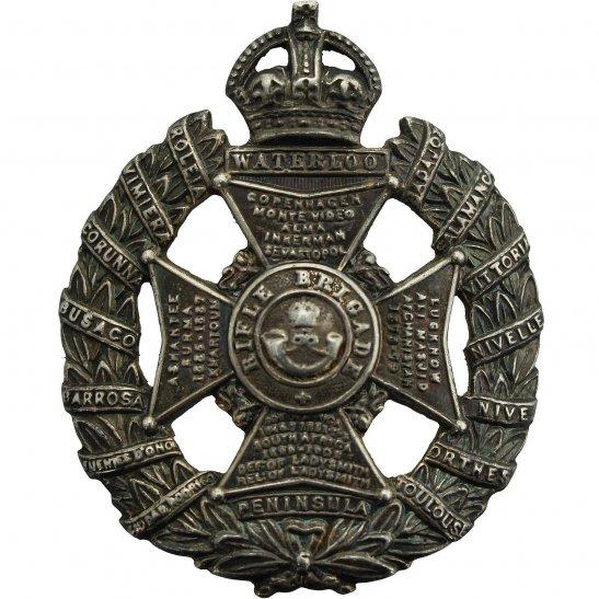 Rifle Brigade EDWARDIAN The Rifle Brigade (Prince Consort's Own) Regiment Cap Badge - LUG VERSION