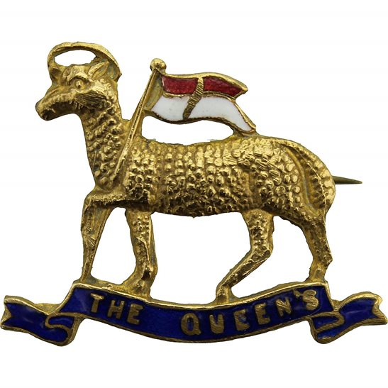 Queens West Surrey WW1 The Queens Royal West Surrey Regiment Queen's Sweetheart Brooch