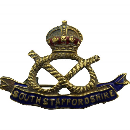 South Staffordshire South Staffordshire Regiment Sweetheart Brooch Badge