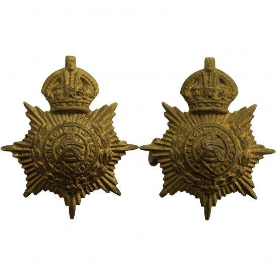 Army Service Corps ASC WW1 Army Service Corps ASC Collar Badge PAIR