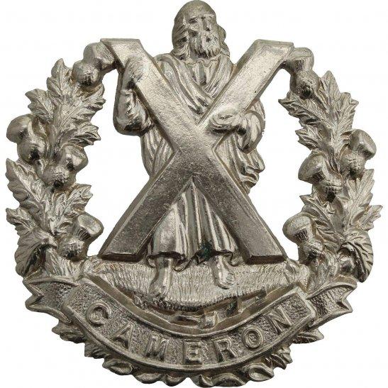 Cameron Highlanders WW2 Queens Own Cameron Highlanders Regiment Cap Badge