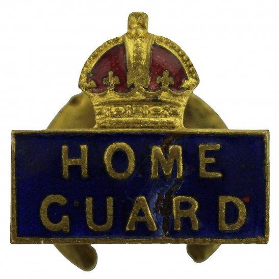 Home Guard WW2 Home Guard Servicemans Enamel HG Lapel Badge