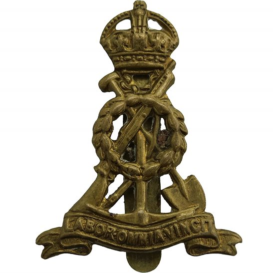 Royal Pioneer Corps WW2 Royal Pioneer Corps BERET SIZE Cap Badge  - J.R. GAUNT LONDON