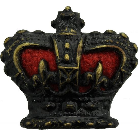 VICTORIAN Officers Insignia Queen Victoria Crown Pip- Rank of Major QVC