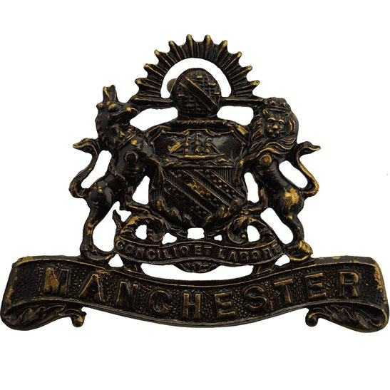 Manchester Regiment WW1 Manchester Regiment OFFICERS Bronze Collar Badge