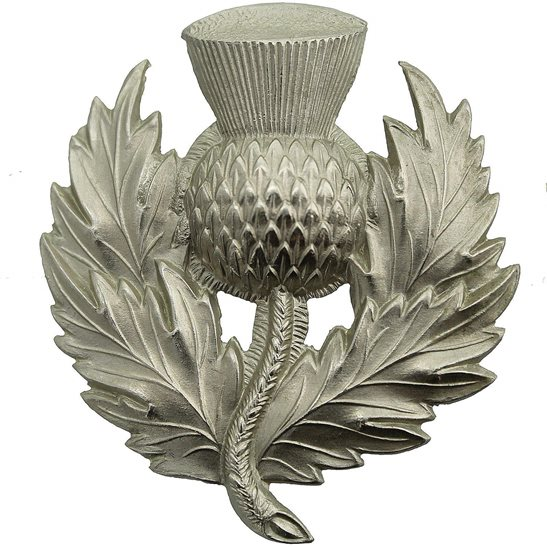 London Scottish VICTORIAN London Scottish Rifles Volunteer Corps Glengarry Cap Badge