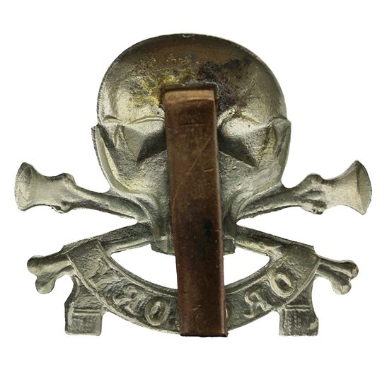 additional image for WW2 17th / 21st Lancers (Deaths Head) Regiment Cap Badge