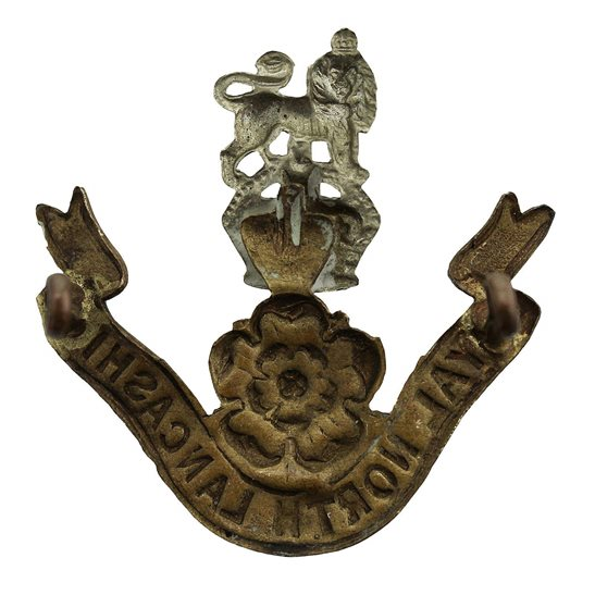 additional image for Loyal North Lancashire Regiment Cap Badge - EARLY LUGS VERSION