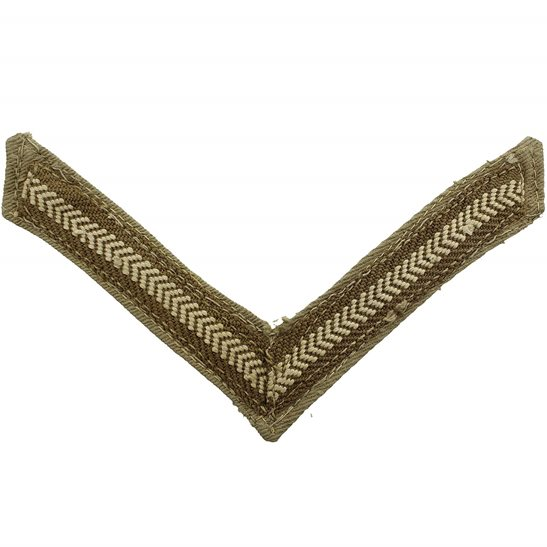 WW2 British Army Lance Corporals Cloth Chevron Insignia Rank Stripes