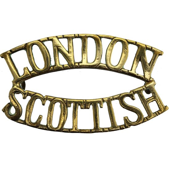 London Scottish 14th Battalion, The London Scottish Regiment Shoulder Title
