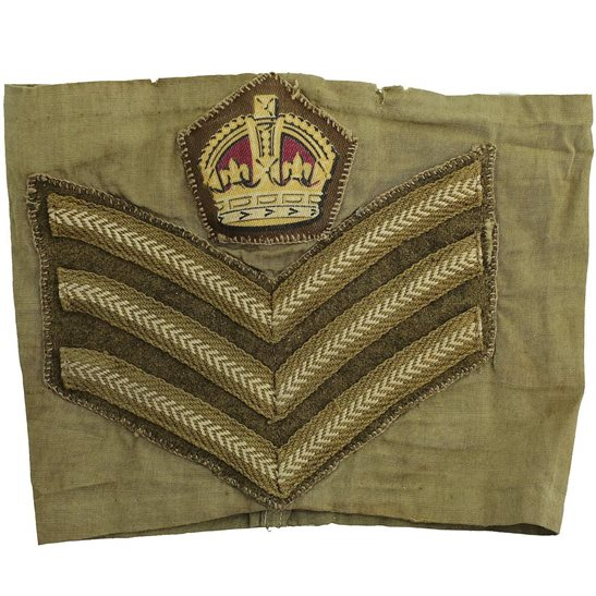 WW2 Company Quartermaster Sergeants Cloth Chevron Insignia Rank Stripes Armband