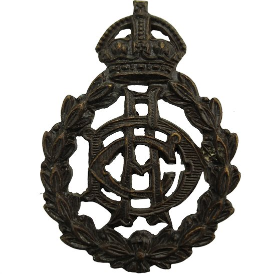 Army Veterinary Corps AVC WW1 Army Veterinary Corps AVC OFFICERS Bronze Collar Badge