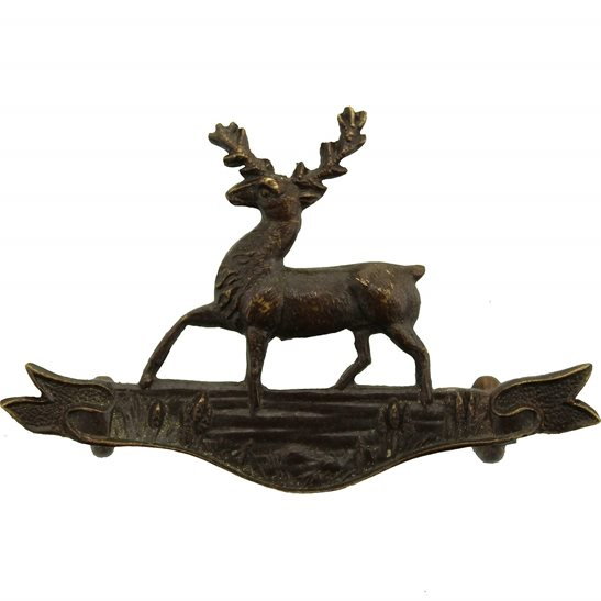Hertfordshire Yeomanry Regiment OFFICERS Bronze Collar Badge