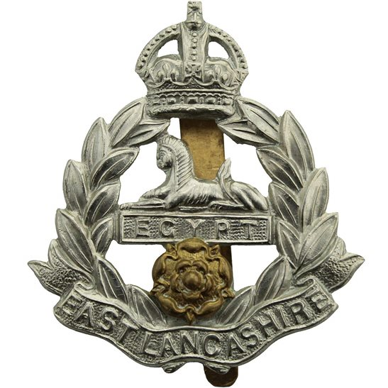 East Lancashire WW2 East Lancashire Regiment Cap Badge