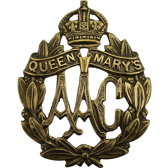 QMAAC WW1 Queen Marys Army Auxiliary Corps QMAAC Mary's Cap Badge