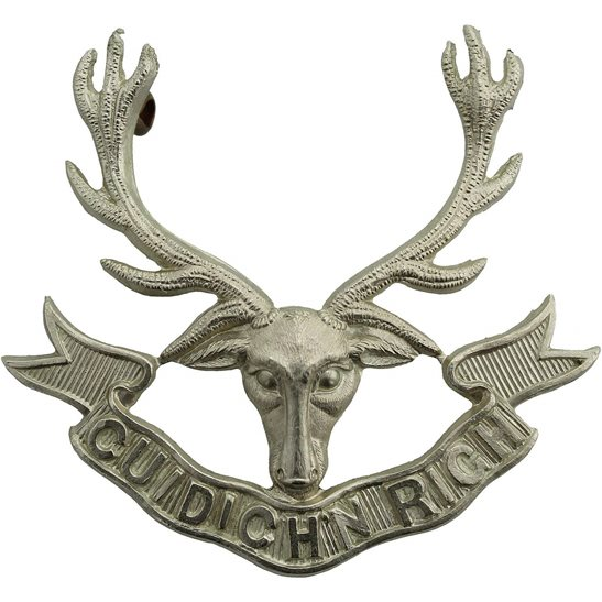 Seaforth Highlanders Seaforth Highlanders Regiment Cap Badge 3X LUGS VERSION