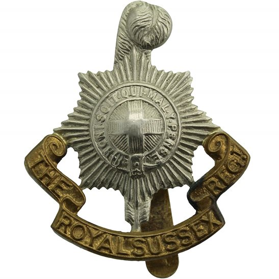 Royal Sussex WW2 Royal Sussex Regiment Cap Badge