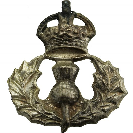 Cameron Highlanders Queens Own Cameron Highlanders Regiment Queen's Scottish Collar Badge