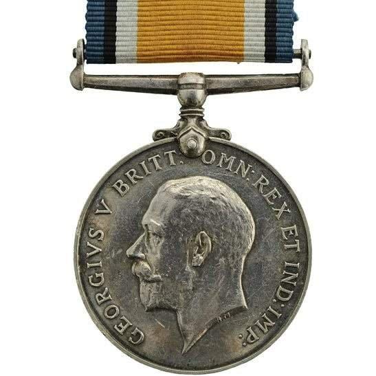 WW1 ERASED Blank Spare Gap-Filler British War Medal BWM