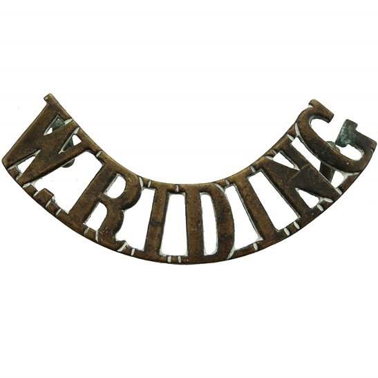 West Riding WW1 Duke of Wellington's West Riding Regiment Shoulder Title (FIRST PATTERN)