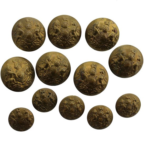 General Service British Army General Service Buttons Set x12 24mm & 17mm