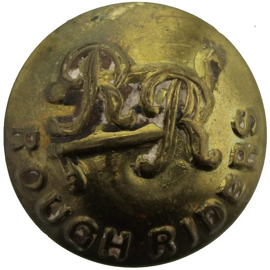 Rough Riders WW1 City of London Yeomanry (Rough Riders) Regiment SMALL Tunic Button - 19mm