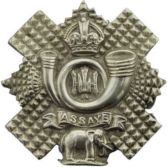 Highland Light Infantry Highland Light Infantry HLI Scottish Regiment Collar Badge