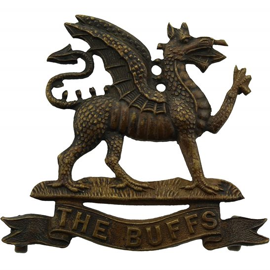 Buffs (Royal East Kent) Royal East Kent (The Buffs) Regiment OFFICERS Bronze Collar Badge