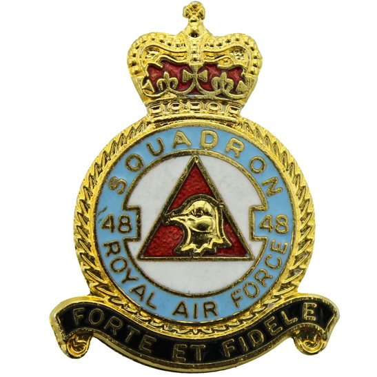 RAF Squadrons 48 Squadron Royal Air Force RAF Lapel Badge