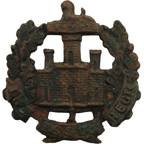 Essex Regiment UK Dug Detecting Find - WW1 The Essex Regiment Relic Cap Badge