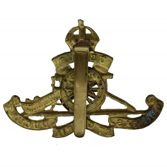 additional image for WW1 Royal Artillery Regiment MOVING / ROTATING WHEEL VERSION Cap Badge