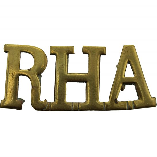 Royal Horse Artillery RHA WW1 Royal Horse Artillery Regiment RHA Shoulder Title