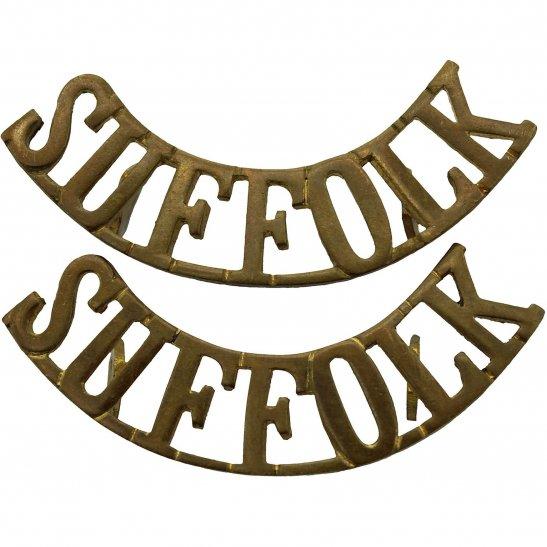 Suffolk Regiment Suffolk Regiment Shoulder Title PAIR