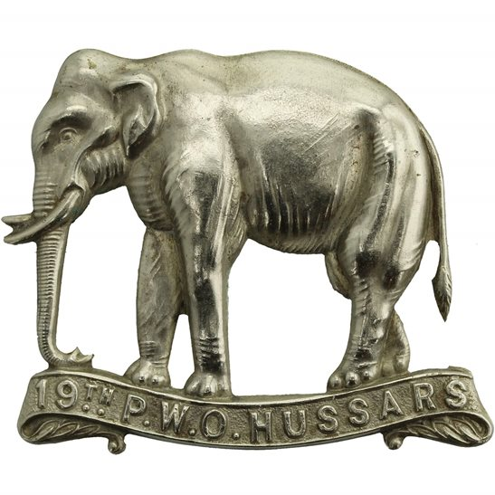 19th Hussars WW1 19th (Alexandra, Princess of Wales's Own) Hussars Regiment Cap Badge