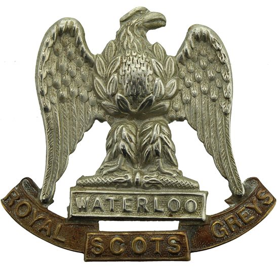 Royal Scots Greys Royal Scots Greys Regiment Cap Badge - LUGS VERSION