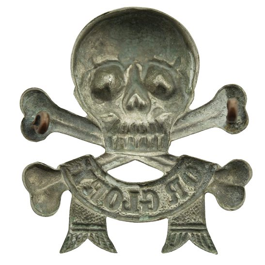 additional image for 17th / 21st Lancers (Deaths Head) Regiment Arm / Sleeve Badge