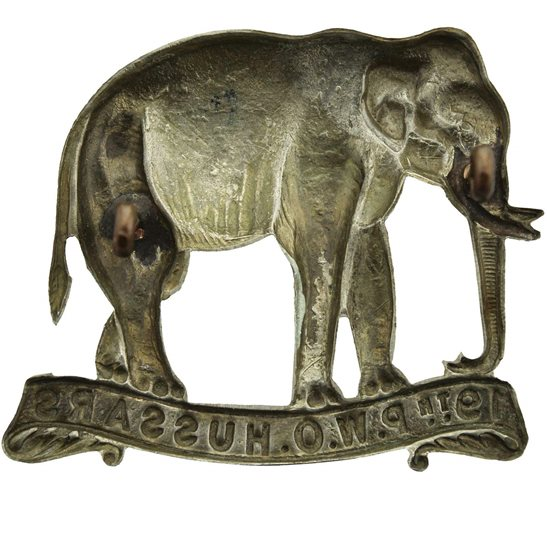 additional image for WW1 19th (Alexandra, Princess of Wales's Own) Hussars Regiment Cap Badge