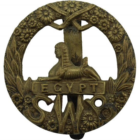 South Wales Borderers WW1 South Wales Borderers Regiment ALL BRASS 1916 Cap Badge - SMITH & WRIGHT LD