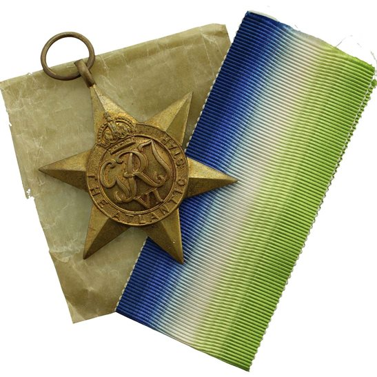 WW2 Atlantic Star Campaign Medal and Original Packet etc. - MINT CONDITION