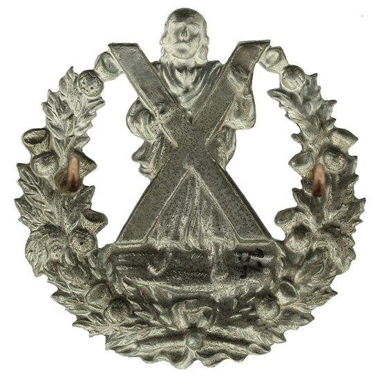 additional image for EDWARDIAN Queens Own Cameron Highlanders Regiment Cap Badge - No Scroll