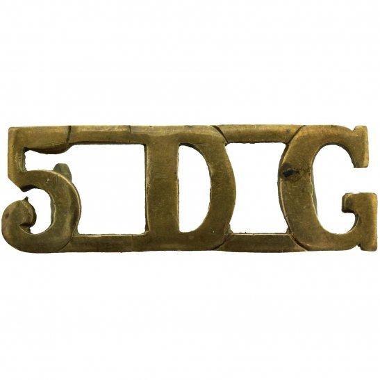5th Dragoon Guards 5th Royal Inniskilling Dragoon Guards Irish Regiment Shoulder Title - 1ST PATTERN