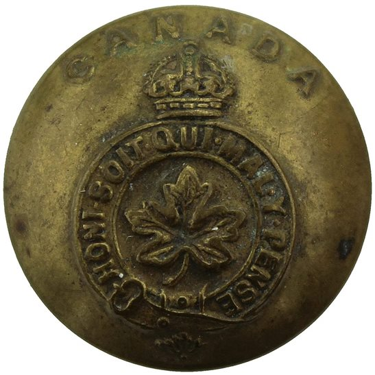 WW1 Canadian Army WW1 Canadian Army Forces Canada Division Corps Button - 26mm
