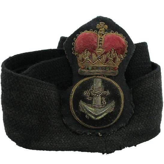 additional image for British Royal Navy Petty Officers Cloth Cap Badge - Queens Crown