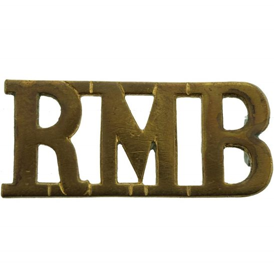 Royal Marines WW1 Royal Marines Band Corps RMB Shoulder Title