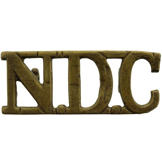 Territorial Battalions WW2 National Defence Company NDC Companies (of the Territorial Army) Cap Badge