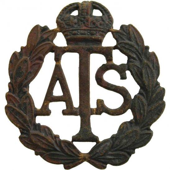 Auxiliary Territorial Service ATS UK Dug Detecting Find - WW2 Auxiliary Territorial Service ATS Relic Cap Badge