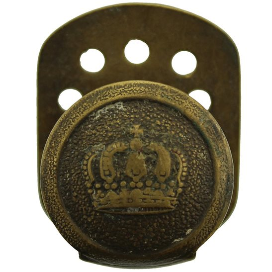 WW1 German Army WW1 Imperial German Soldiers Prussian Crown Belt Buckle Tunic Hook Ramp