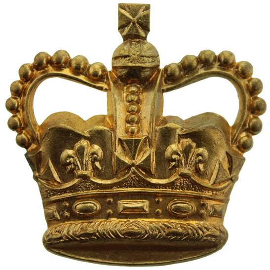 Warrant Officer 3rd Class Arm / Sleeve Officer's Rank Insignia Badge - Queens Crown