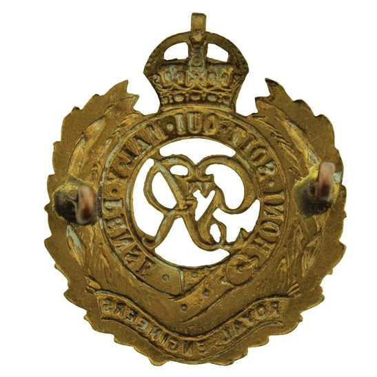 additional image for WW2 Royal Engineers Corps (George VI) Cap Badge - LUGS VERSION